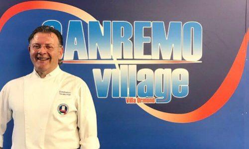"""GRANDE SUCCESSO DI GIANFRANCO VERDECCHIA CON IL SUO SHOW COOKING AL """"SANREMO VILLAGE"""""""