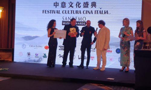 SARA SCOGNAMIGLIO PREMIATA DAI CAVALIERI DI MALTA AL SANREMO MUSIC AWARDS A VENEZIA